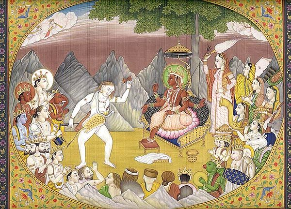 Lord Shiva Dancing for His Spouse Parvati