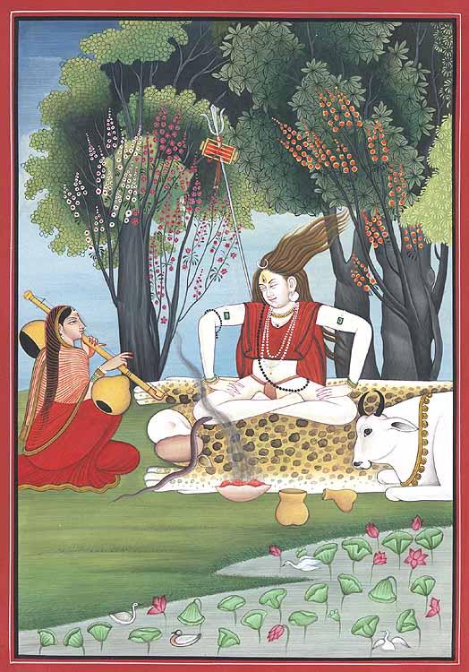 Lord Shiva in Meditative Dance