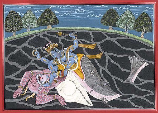 Matsya, the Fish Incarnation of Vishnu