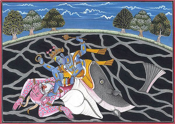 Matsya, the Fish Incarnation of Vishnu