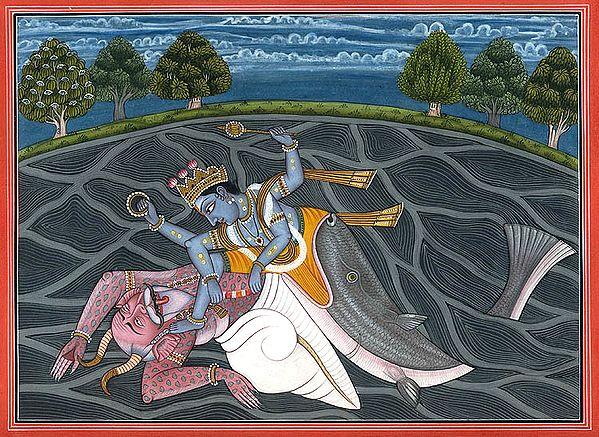 Matsya - The Fish Incarnation of Vishnu