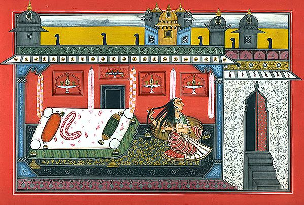 Her Bed is Ready, Only the Lover is Missing (Vasakasajja Nayika)