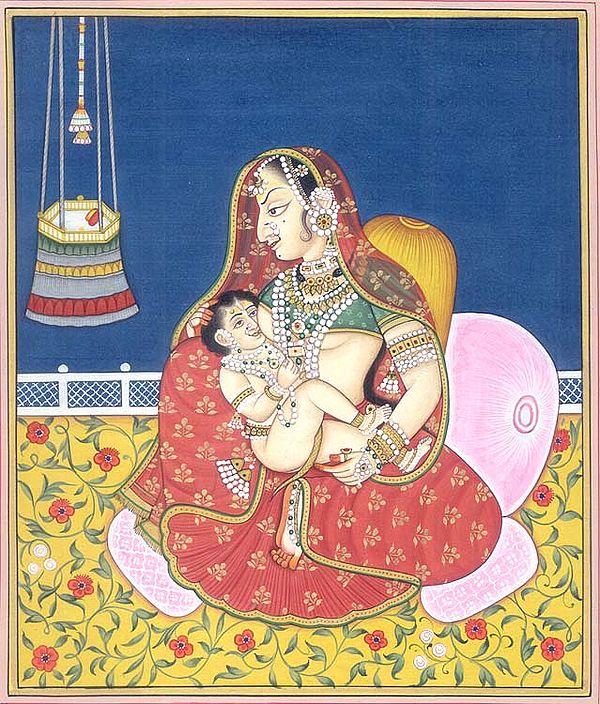 Putana Suckles Krishna