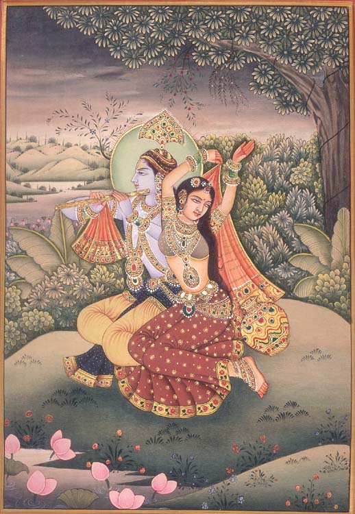 Radha Dances to Krishna's Tune