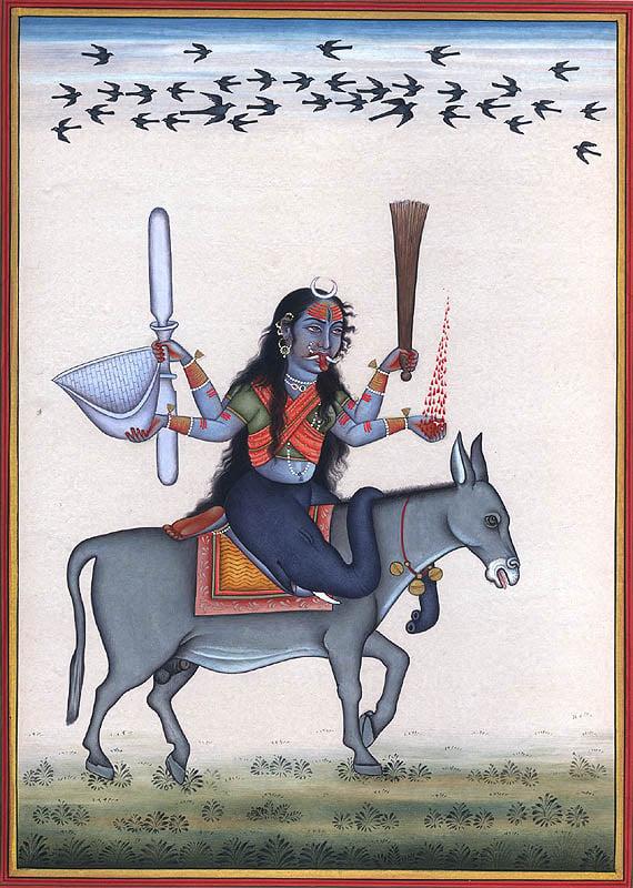 Shitala Mata - Goddess Who Cures Smallpox