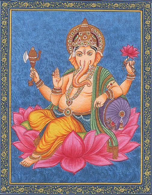 Shri Ganesha on Lotus