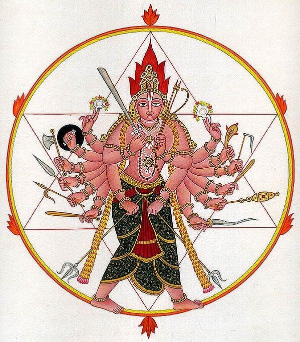 Shri Vishnu as Lord Sudarshana