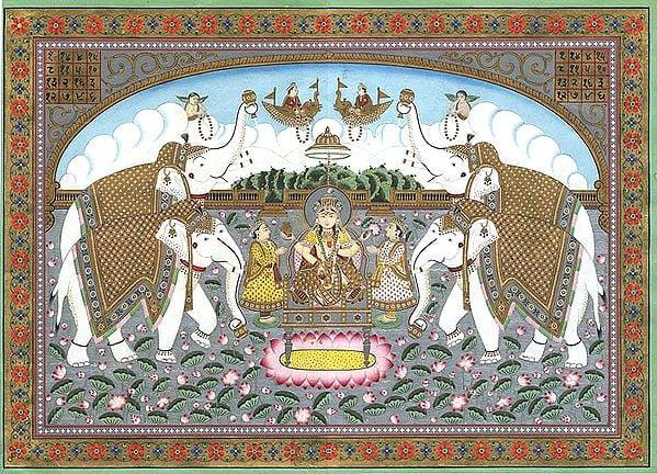 The Lotus Goddess as Gajalakshmi
