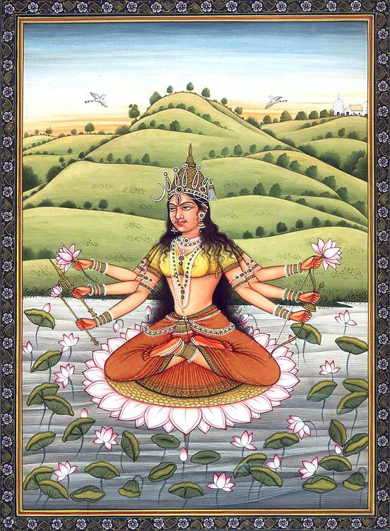 Shashtabhujadharini Devi Bhuvaneshvari