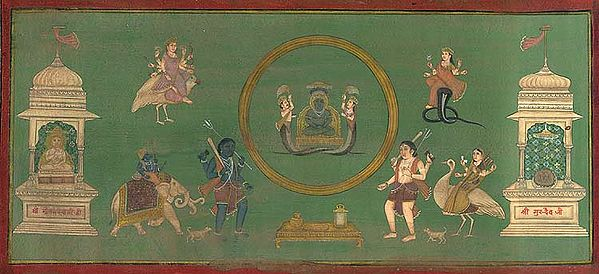 Tirthankara Parshvanatha Enshrining Cosmic Ring