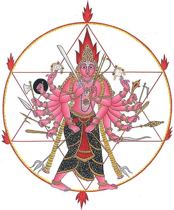 Vishnu as Lord Sudarshana