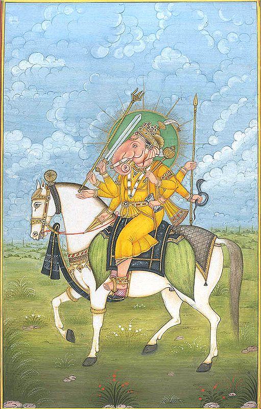 Equestrian Ganesha
