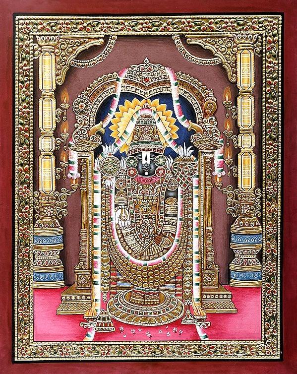 Lord Venkateshwara Endowed with Gold Jewelry