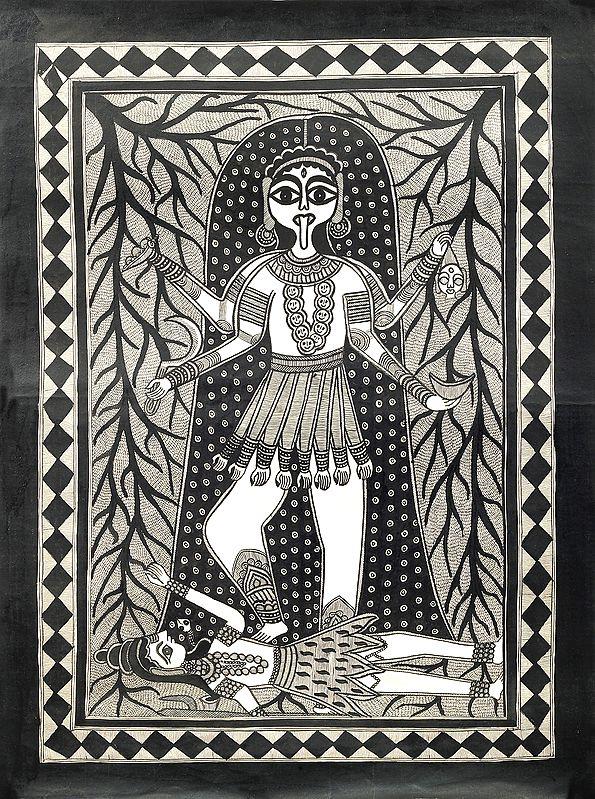 Goddess Shakti On Shiva