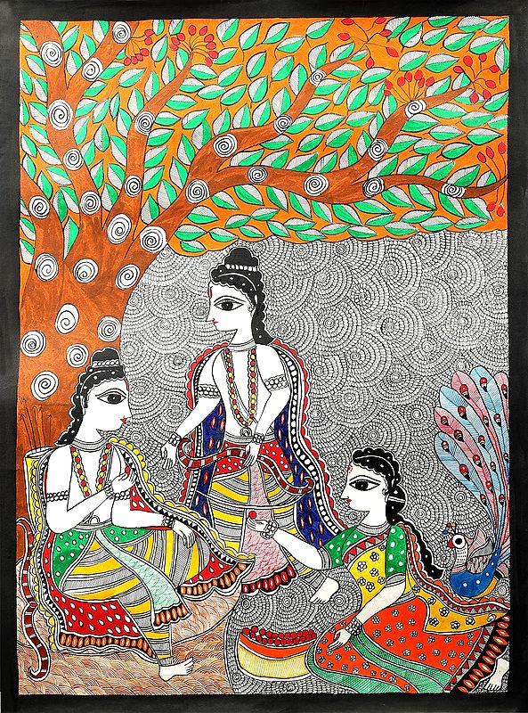 Shabari Offering Berries To Lord Rama