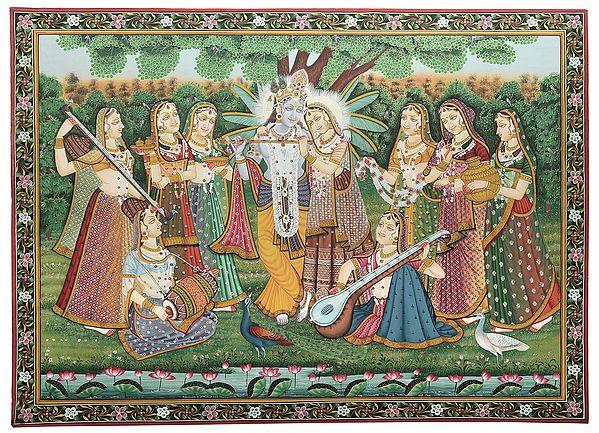 Radha-Krishna And The Milkmaids Steeped In Music