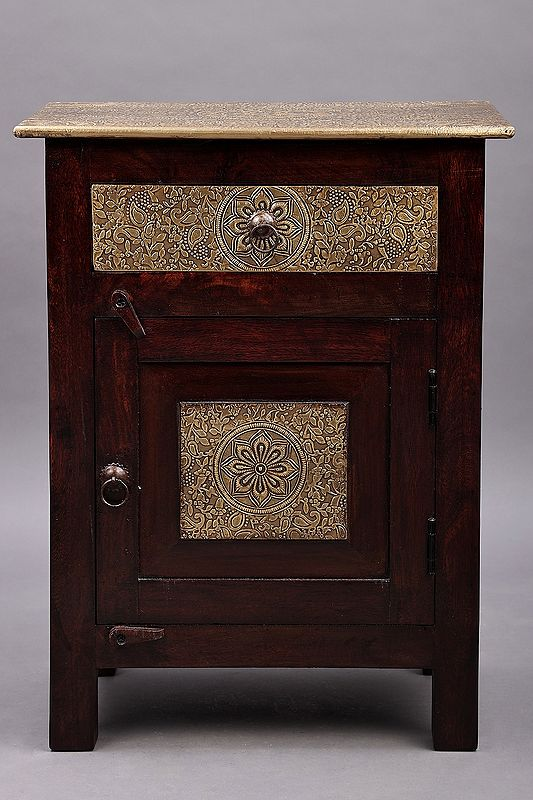 """23"""" Wooden Side Table with Drawer 
