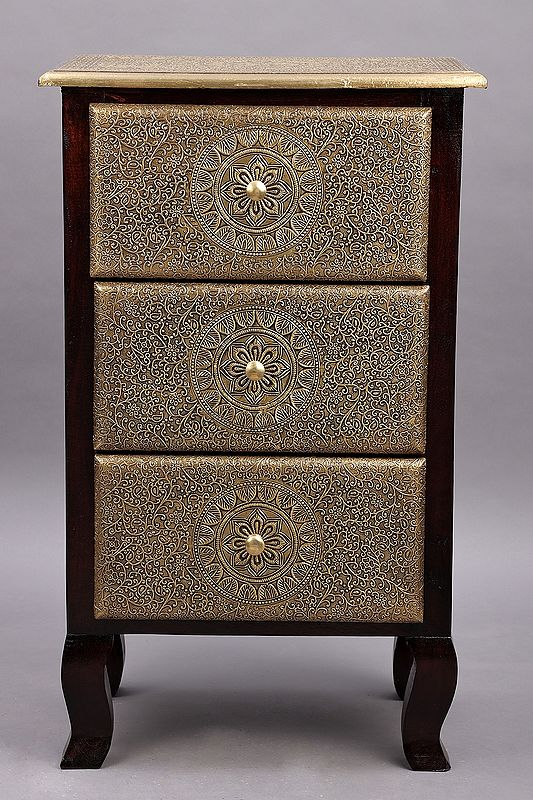 """29"""" Wooden Side Table with Two Drawer 
