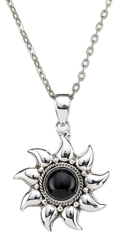 Stylish Sterling Silver Pendant Studded with Gemstone