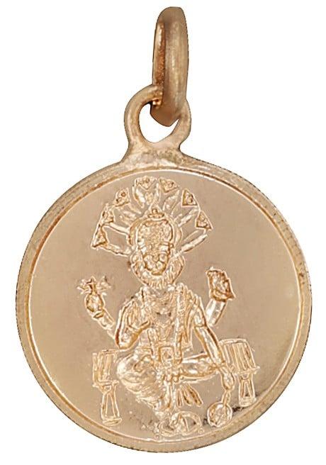 Lord Narasimha Pendant with Shri Narasimha Yantra on Reverse