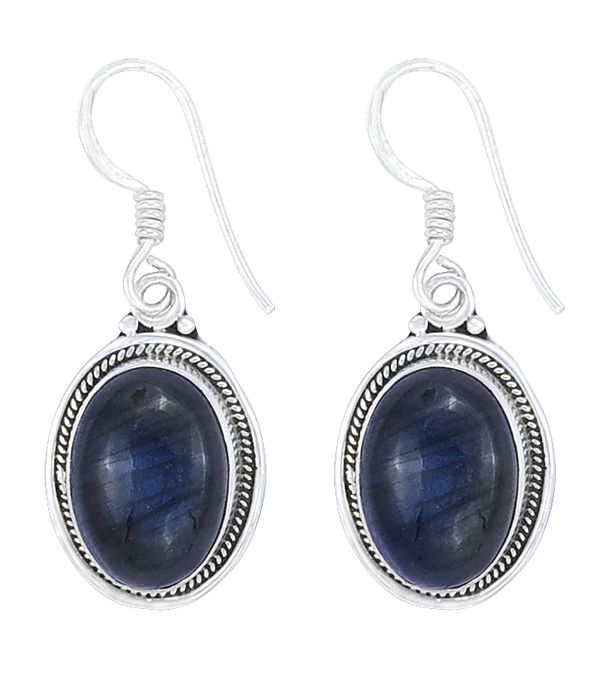 Sterling Silver Earring with Labradorite Stone