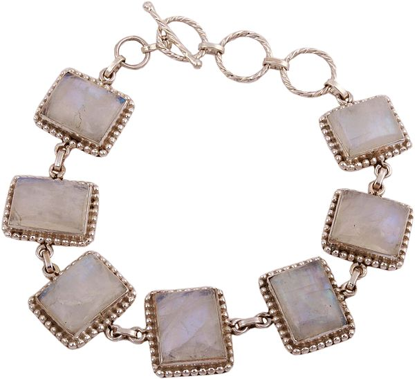 Rainbow Moonstone Embellished Princess Bracelet