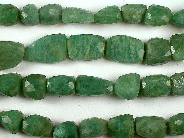 Faceted Amazonite Tumbles