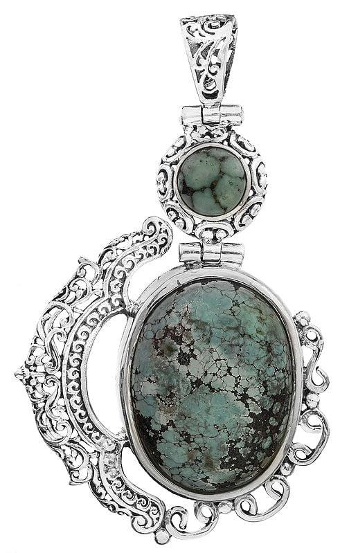 Twin Gemstone Pendant