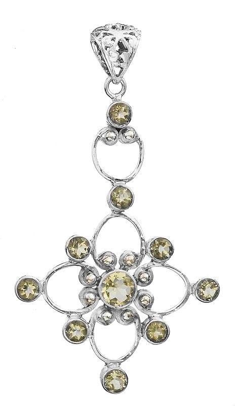 Faceted Gemstone Pendant