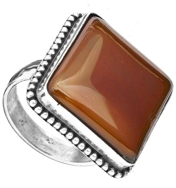 Carnelian Rectangular Finger Ring