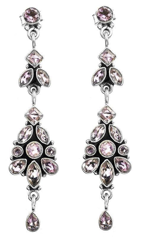 Faceted Gemstone Post Earrings