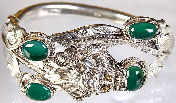 Green Onyx Dragon Bracelet