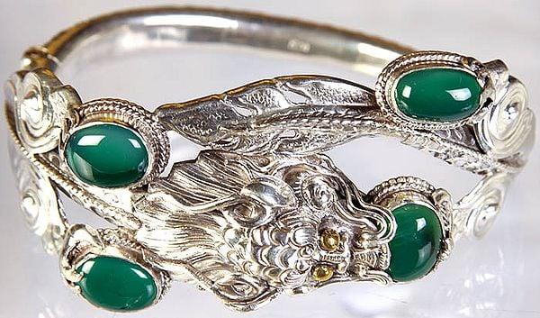 Green Onyx Dragon Bracelet