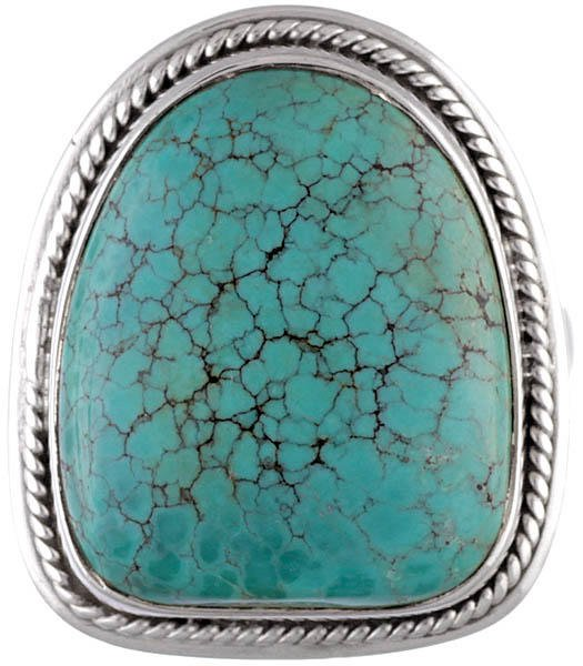 Spider's Web Turquoise Ring