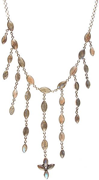 Dangling Labradorite Necklace