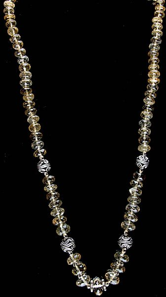 Faceted Citrine and Lemon Topaz Necklace