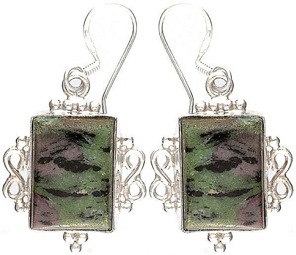 Ruby Zoisite Earrings