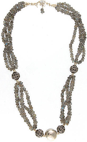 Faceted Labradorite Beaded Necklace