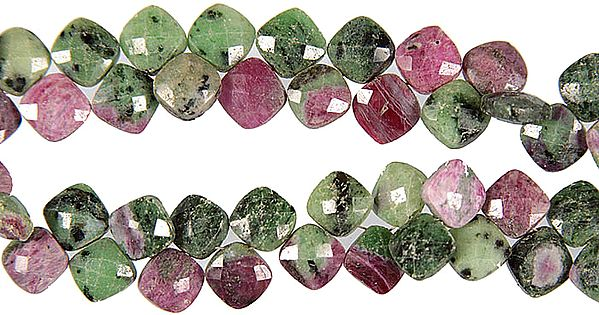 Faceted Ruby Zoisite Rhombuses