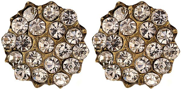 Victorian Post Earrings with Cut Glass