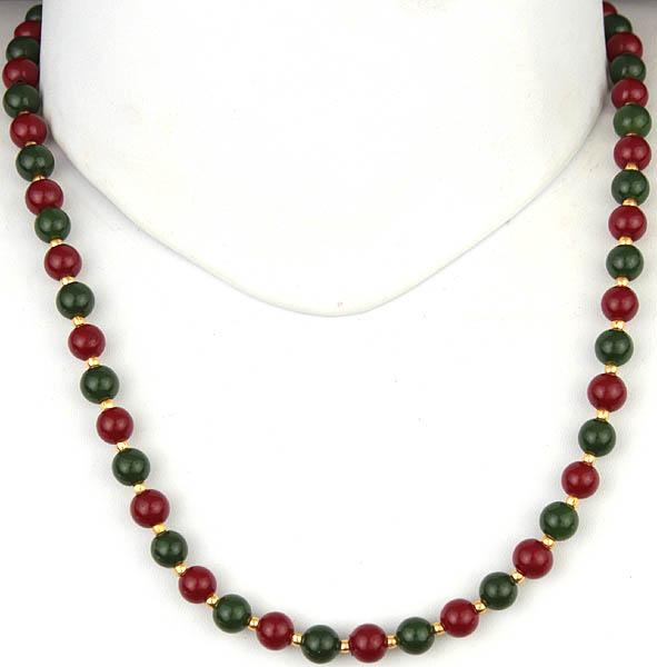Faux Ruby and Emerald Chain