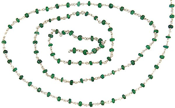 Faceted Emerald Beaded Chain (Price Per Meter)
