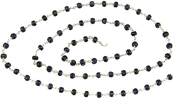 Faceted Sapphire Beaded Chain (Price Per Meter)