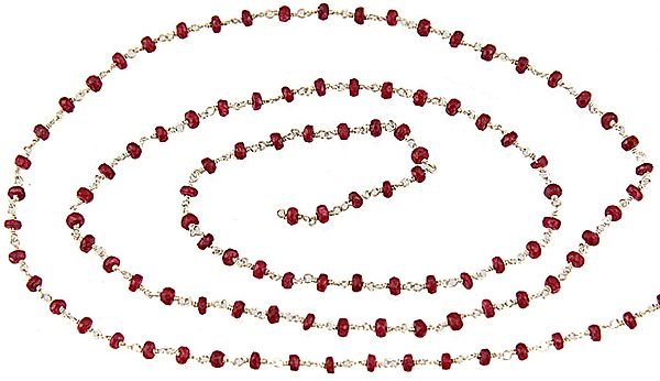 Faceted Ruby Beaded Chain (Price Per Meter)