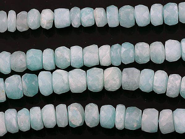 Faceted Peru Opal Rondells