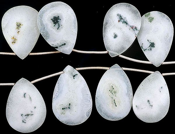 Faceted Moss Agate Briolette