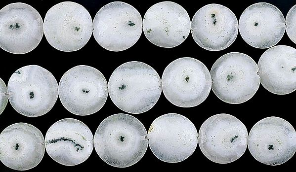 Faceted Moss Agate Large Buttons