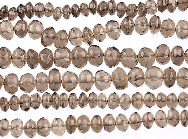 Faceted Smoky Quartz Beads