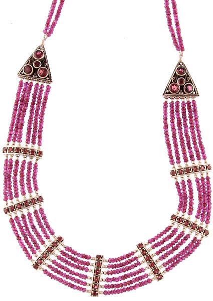 Faceted Garnet Necklace