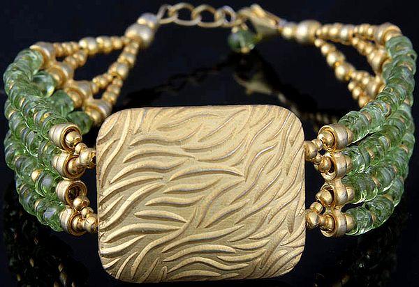 Peridot Gold Plated Bracelet